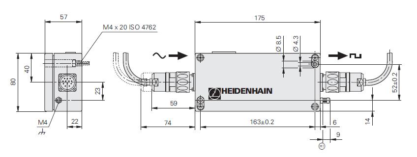boitier IBV 600 HEIDENHAIN - schéma
